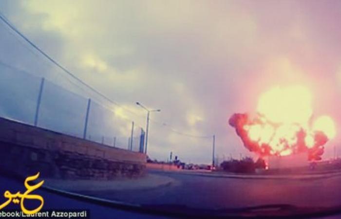 """بالفيديو : لحظات مرعبة لتحطم طائرة في """"مالطا"""" ..."""