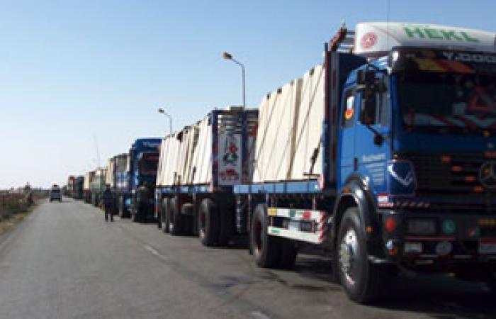 وصول 11 شاحنة زلط لقطاع غزة لاستكمال عمليات الإعمار