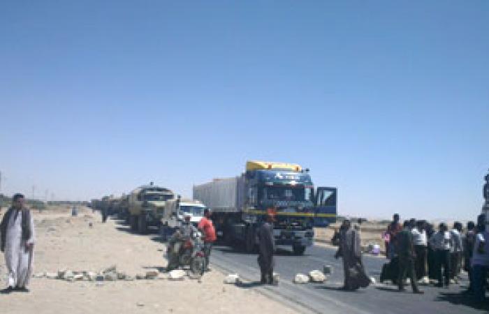 الجيش يتدخل لفتح طريق مصر إسكندرية الصحراوى والأهالى يرفضون