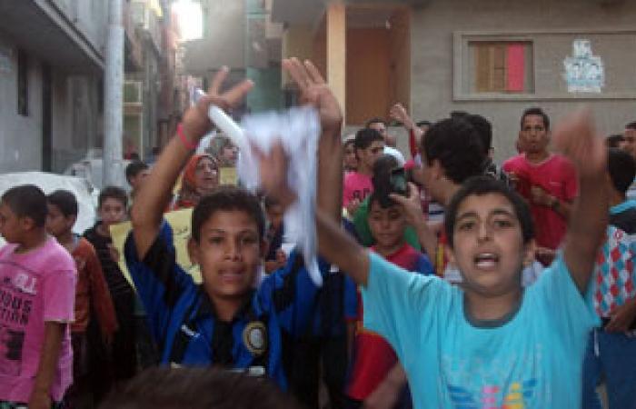 """مسيرة ضد النظام بقرية """"القرضا"""" فى كفر الشيخ"""