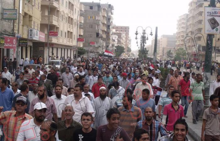 تجدد الاشتباكات بين أنصار الإخوان والأهالى بمنطقة الهانوفيل