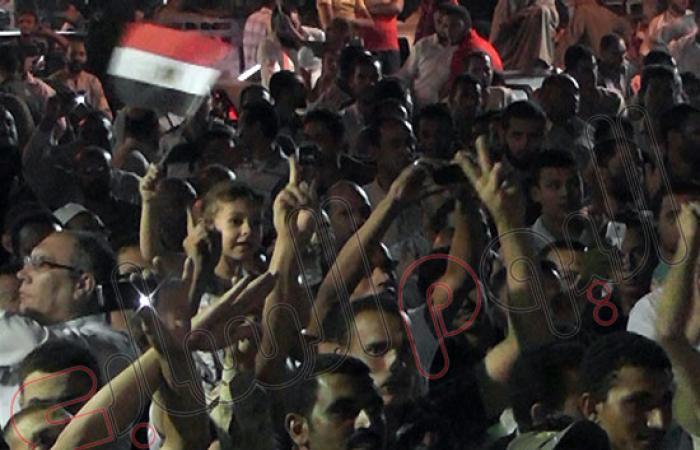 بالصور.. مؤيدو مرسى يحتشدون بالفيوم فى إطار جمعة الزحف