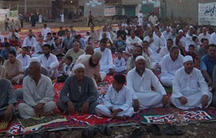 الأحزاب المدنية تصلى العيد فى دوران النصر بكفر الشيخ صلاة العيد