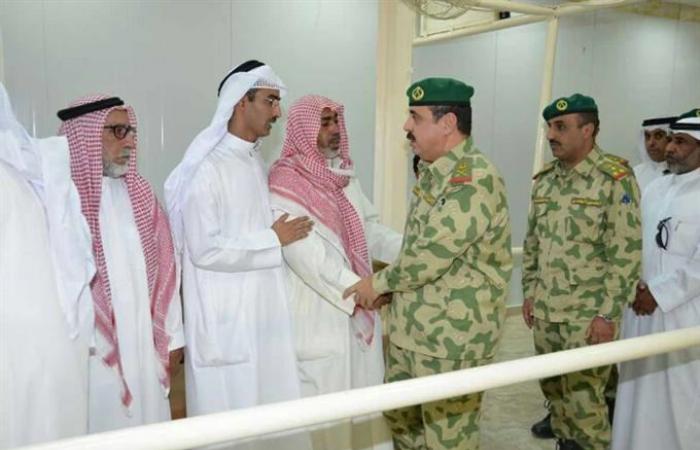 الحرس الوطني قدم العزاء في شهيد الواجب واطمأن على صحة المصاب