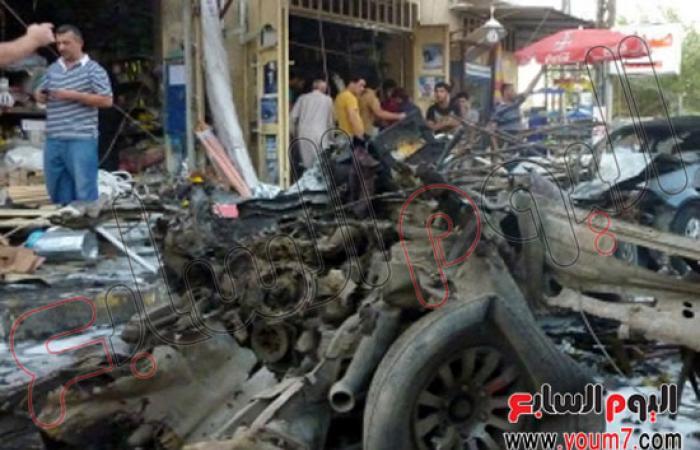 أكثر من 120 قتيلا وجريحا حصيلة تفجير 11 سيارة مفخخة بمناطق مختلفة من بغداد