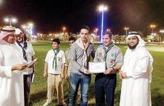 القائد الكشفي المغربي يزور كشافة تعليم صبيا