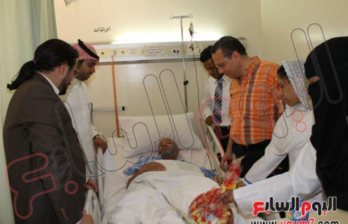 اتحاد المصريين بالسعودية يزور المرضى بالمستشفيات