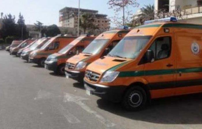 """خروج 9 سيارات إسعاف من """"النهضة"""" لنقل المصابين للمستشفيات"""