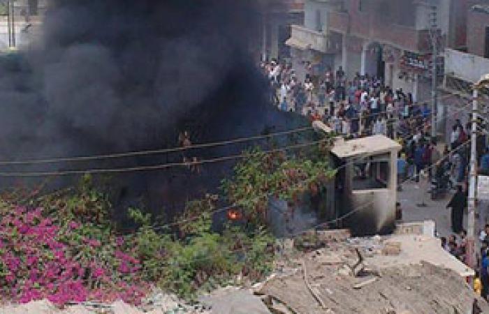 الإخوان يشعلون النار فى استراحة رئيس مجلس مدينة أبوكبير