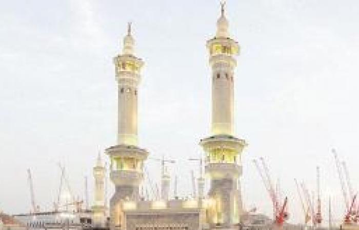 منارتان رئيسيتان و4 جانبية تزيد مآذن المسجد الحرام إلى 13