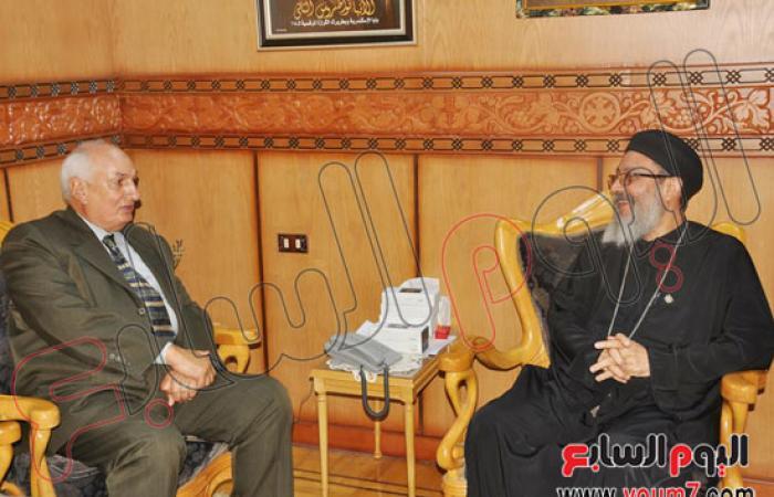 محافظ كفر الشيخ فى كنيسة مار جرجس: من مبادئ ثورة 30 يونيو نبذ العنف
