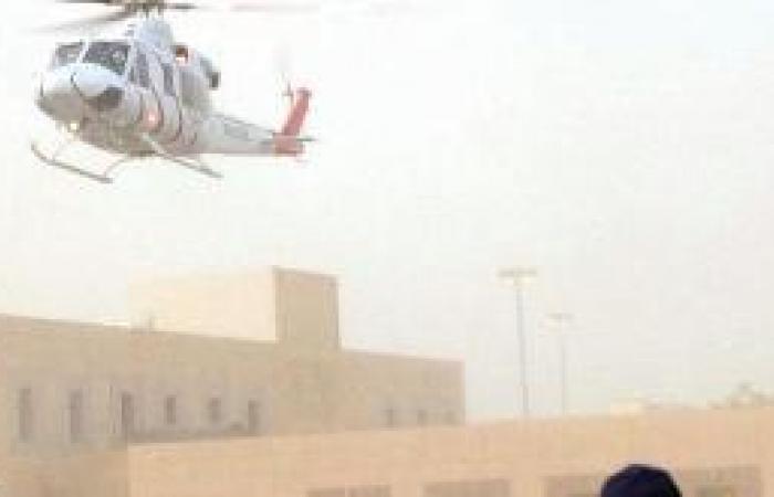 نقل مصابين في حادث سير إلى تخصصي القصيم بالإسعاف الجوي
