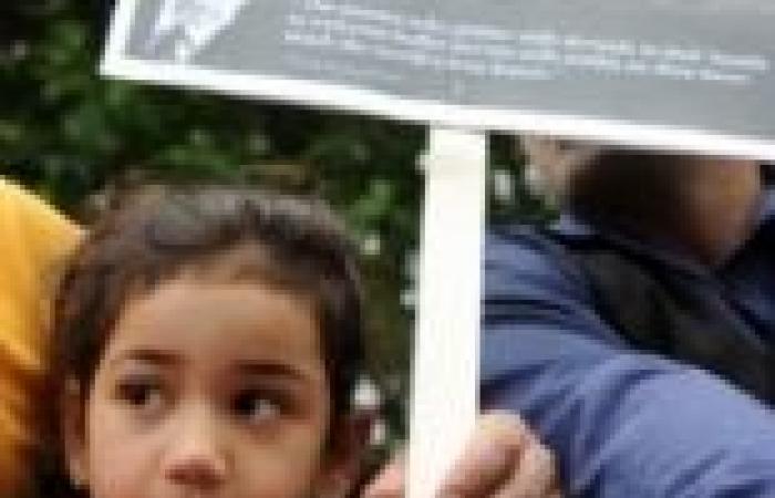 مظاهرة للمصريين في لندن للتعبير عن غضبهم من التناول الإعلامي البريطاني للتطورات في مصر