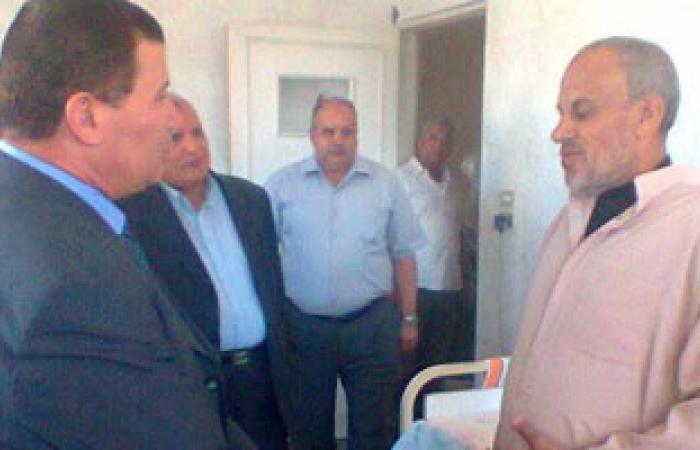 محافظ دمياط فى زيارة لمستشفى الحميات والصدر