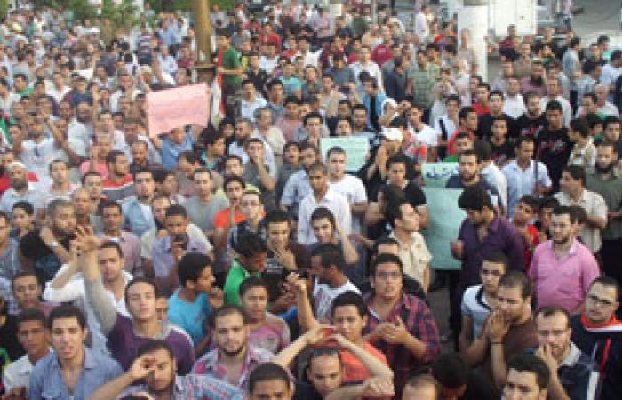 تظاهر الطلاب وأولياء الأمور أمام جامعة طنطا بسبب التحويلات بين الجامعات
