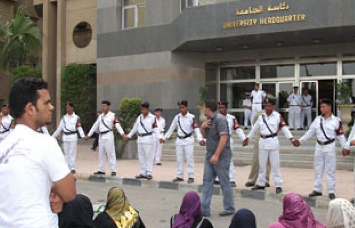 مشادات بين طلاب الإخوان والأمن الإدارى بجامعة حلوان