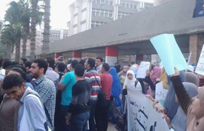 تظاهر طلاب بجامعة طنطا احتجاجا على أحداث أمس بالأزهر