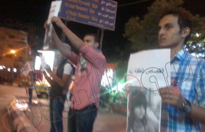 """بالصور.. وقفة احتجاجية للقوى السياسية بالفيوم تضامنا مع """"زينة"""""""