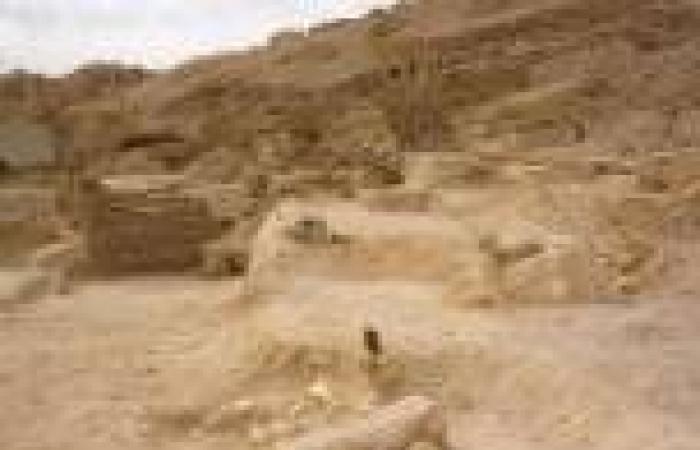 العثور على تابوتين فرعونيين من الحجر الجيري في البحيرة