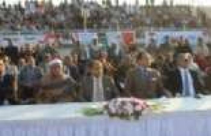 مؤتمر جماهيري حاشد باستاد الفيوم لتأييد الدستور
