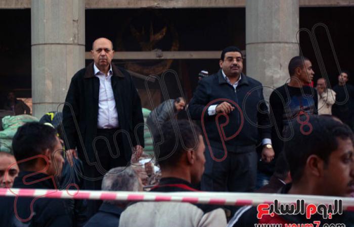 فريق من نيابة أمن الدولة يصل مديرية أمن القاهرة لمعاينة الانفجار
