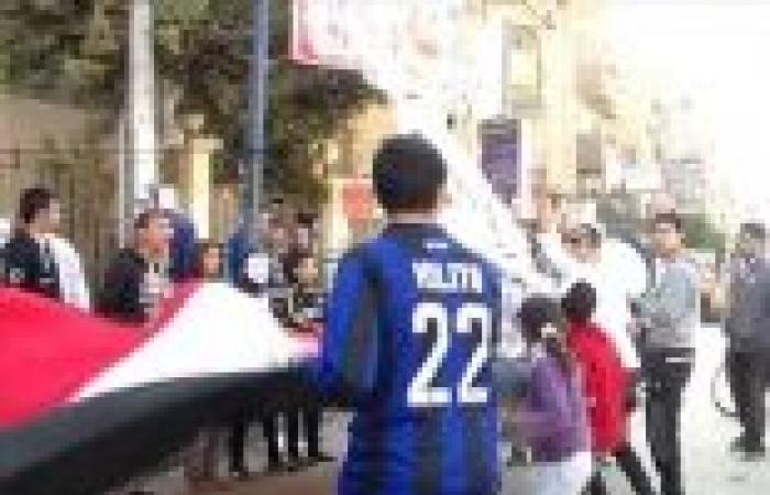 بالصور| تظاهرة لأولتراس سيساوي ببني سويف تطالب بإعدام الإخوان