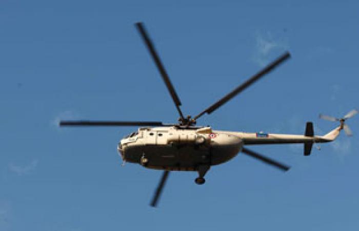 تحليق طائرات الهليكوبتر بسماء وسط البلد للاحتفال بذكرى 25 يناير