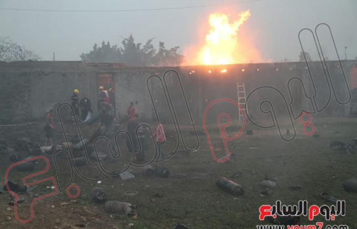 محافظ الجيزة: الحماية المدنية ترفع مخلفات حادث حريق مستودع البراجيل
