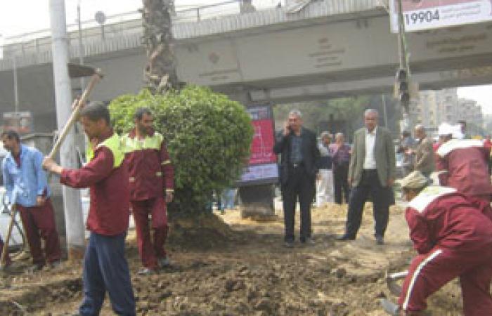 نظافة الجيزة تشن حملات تجميل على شارع الهرم