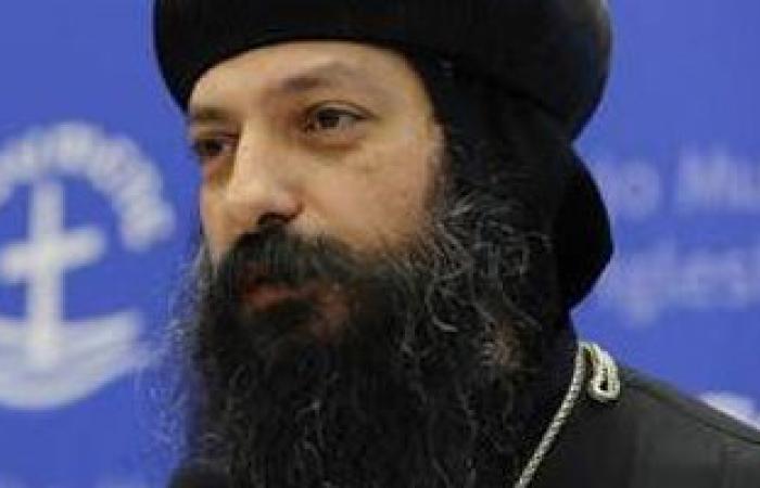 """قنصل مصر بنيويورك يلتقى الأنبا ديفيد للتهئنة بـ""""عيد القيامة"""""""