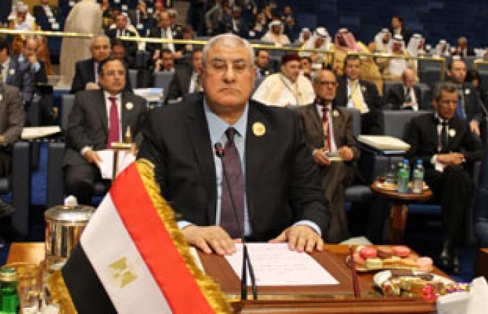 الرئيس عدلى منصور يوفد مبعوثين للتعازى