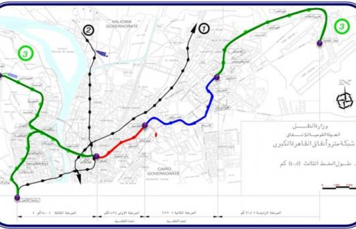 الخط الثالث للمترو.. البداية إمبابة والنهاية مطار القاهرة