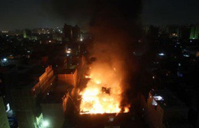 الحماية المدنية: سيطرنا على حريق هائل بمخزن للأثاث فى المعادى