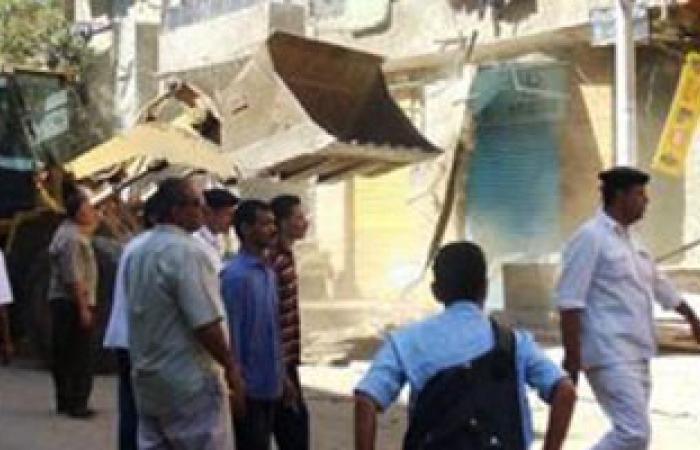 محافظة الإسكندرية تشن حملة لإزالة 3 عقارات مخالفة بحى وسط