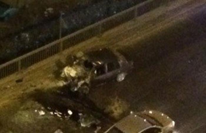 """تكدس مرورى بمحور 26 يوليو بسبب انقلاب سيارة أمام """"هايبر وان"""" بـ6 أكتوبر"""