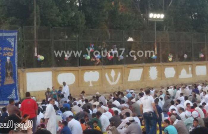 بالفيديو والصور.. الآلاف يؤدون صلاة عيد الفطر فى 97 ساحة ببنى سويف