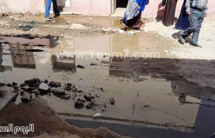 مستشفى ديروط المركزى يغرق فى مياه الصرف الصحى