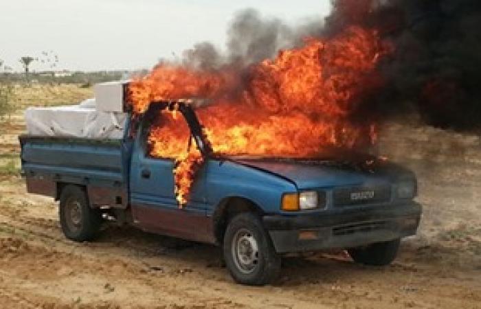 انتظام حركة المرور بعد إخماد حريق سيارة ملاكى بطريق الإسماعيلية الصحراوى