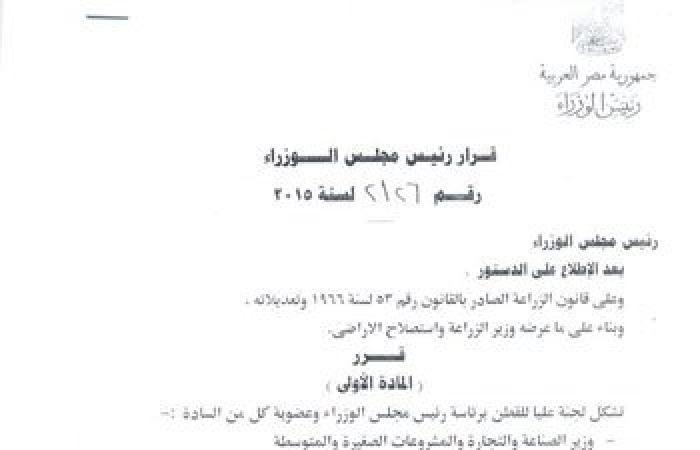 الغزل والنسيج: الحكومة تشكل لجنة عليا لإنقاذ القطن برئاسة محلب