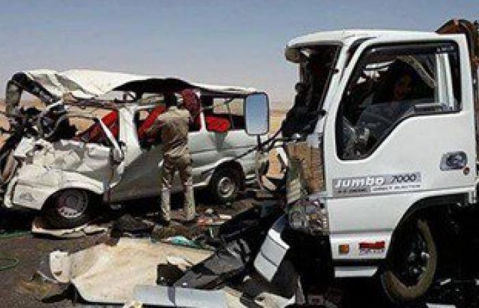 إصابة 9 أشخاص فى حادث مرورى شرق نفق أحمد حمدى بالسويس
