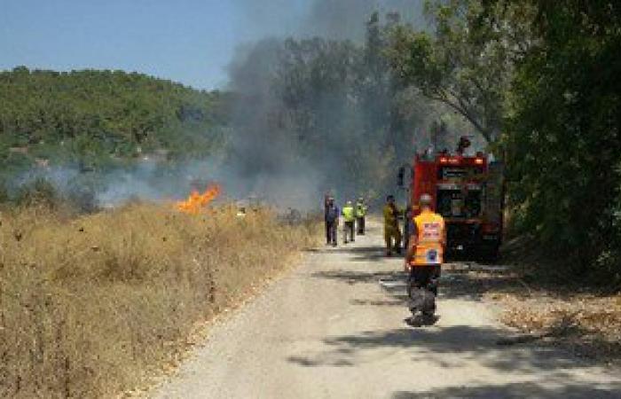 """إخماد حريق نشب بزراعات الهيش شرق """"إدفو"""" بأسوان"""