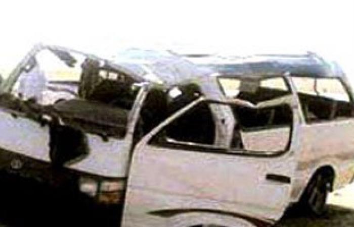إصابة 6 أشخاص فى انقلاب سيارة ميكروباص بطريق (السويس - الإسماعيلية)