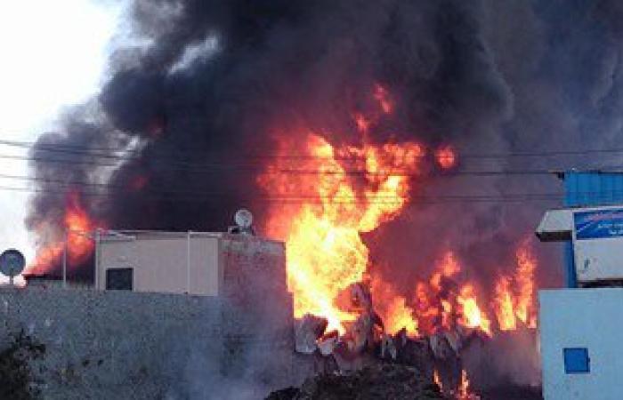 استخراج 3 جثث متفحمة من حريق مصنع البويات بأكتوبر