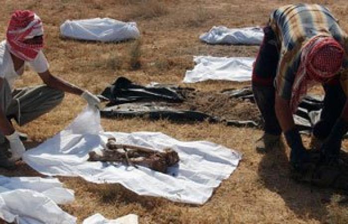 """العثور على مقبرة جماعية بمنطقة """"ماجر"""" جنوب مدينة زليتن الليبية"""
