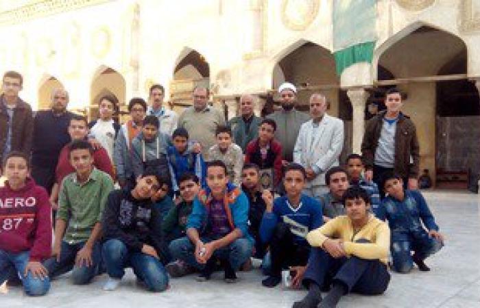 طلاب الأزهر بالمنوفية يزورون أروقة الجامع الأزهر