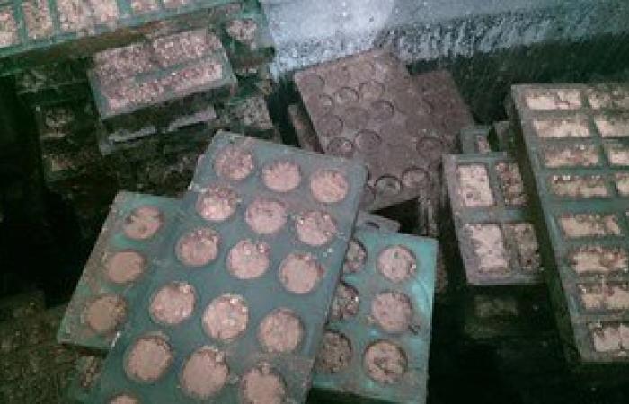 ضبط 1.5 طن حلوى المولد فاسدة بمصنع فى منشأة القناطر