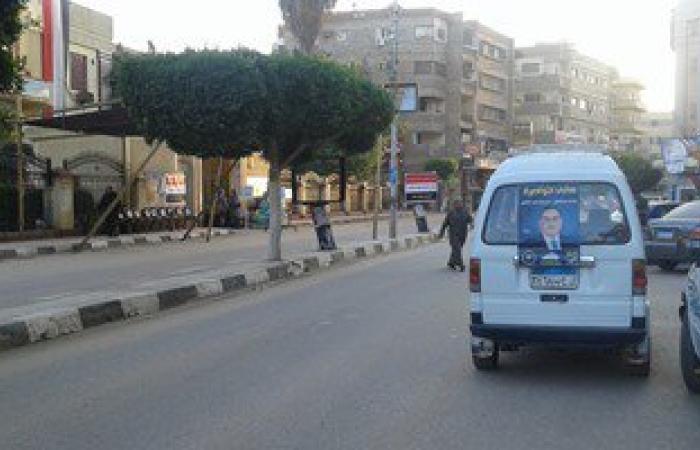 بالصور.. سيارة ممنوعة من نقل الركاب عليها صور مرشح تنقل ناخبين بكفر الشيخ