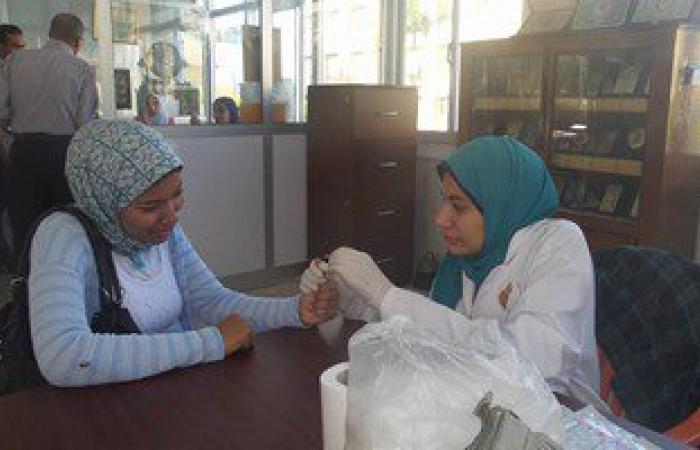 """بالصور.. حملة """"رد كبدى"""" بجامعة الإسكندرية للاكتشاف المبكر عن فيروس سى"""