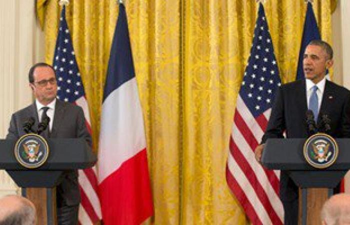 بالصور.. هولاند: اتفقت مع أوباما على تكثيف الغارات ضد داعش فى سوريا والعراق