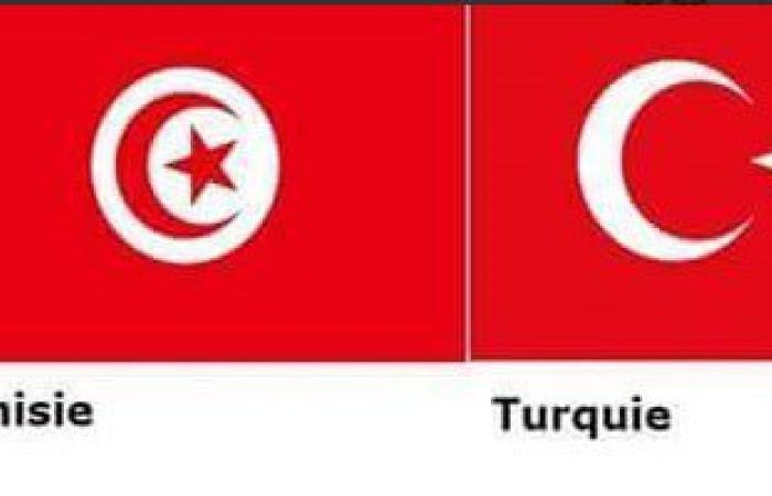"""بسبب تشابه العلمين التونسى والتركى.. رواد """"تويتر"""" لبوتين: """"ركز وأنت بتضرب"""""""